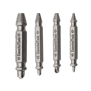 Damaged Screw Extractor Kit and Stripped Screw Extractor Set. Its A HassleFree Broken Bolt Extractor and Screw Remover Set Made From H.S.S 4341 With Hardness 63-65hrc. (Tamaño: 3.43*2.44*0.7 inches)