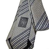 """Gucci Men's Stripe Woven Silk Tie, 2.75"""" (7 CM), Blue 336396"""
