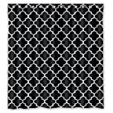 img - for Black White Moroccan Trellis Latticework Shower Curtain Polyester Waterproof 66 book / textbook / text book
