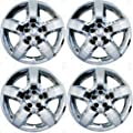 2008, 2009, 2010, 2011, 2012 Chevy Malibu Chrome Factory Replica Wheel Covers / Hubcaps (Set of 4) - 17""