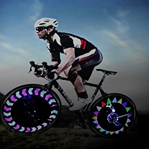 Spoke Light,BYPA Super Bright 14 LED Motorcycle/Bicycle/Cycling/Bike Wheel Bike Signal Tire Rim Light 30 Changes Waterproof