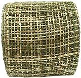 Arts Craft Natural Abaca Burlap, Olive, 4-Inch by 10-Yard