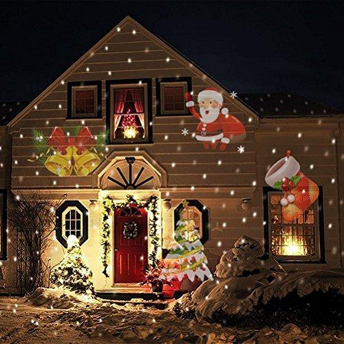 Lampada di proiezione del proiettore a LED - Mobile SANTA ELEMENTI progetta riflettori per il Natale interni e esterni di illuminazione muro del giardino IP65