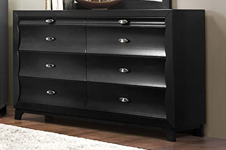 Homelegance Zandra 6 Drawer Dresser In Pearl Black