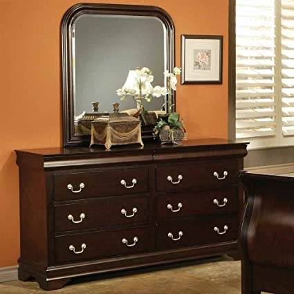 8-Drawer Dresser in Deep Cappuccino Finish