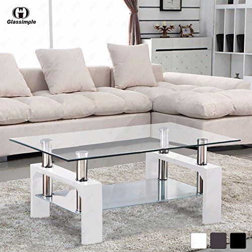 Gracelove Glass Coffee Living Room Table