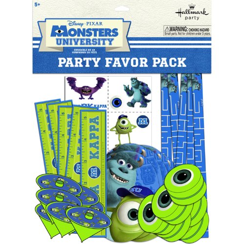 Hallmark BB1TPE1740 Monsters Inc. Party Favor Pk - 48 Piece (Monsters Inc Birthday Decorations compare prices)