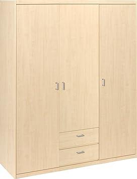 CS Schmalmöbel 10/140 Kleiderschrank, Holz, ahorn, 157 x 54 x 194 cm