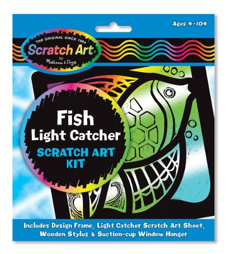 Fish: Scratch Art Light Catcher Kit + FREE Melissa & Doug Scratch Art Mini-Pad Bundle [58896]