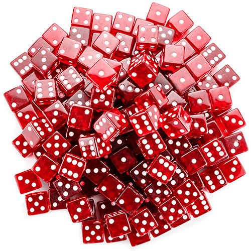 Brybelly 100 Count 19Mm Dice - Red