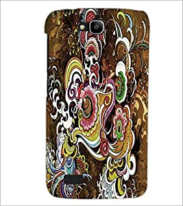 PrintDhaba Pattern D-2623 Back Case Cover for HUAWEI HONOR HOLLY (Multi-Coloured)