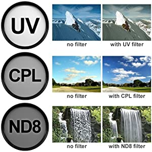 Precision Design 3-Piece Multi-Coated HD Pro Filter Kit (40.5mm UV/CPL/ND8)