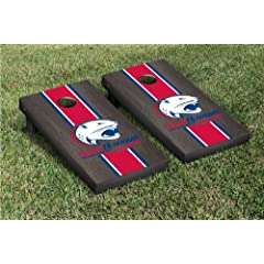 University of South Alabama Jaguars Cornhole Game Set Onyx Stained Stripe Version by Gameday Cornhole