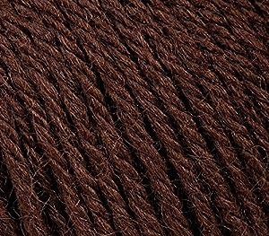 5 PACK - Gazzal Baby Wool 1.76 Oz (50g)/218 Yards (200m) Fine Baby Yarn, 40% Lana Merino, 20% Cashmere Type Polyamide; (Brown - 807) (Color: Brown - 807, Tamaño: 5 Pack)