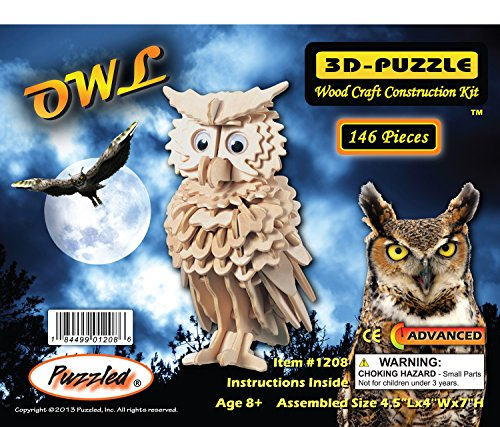 Puzzled Owl Wooden 3D Puzzle Construction Kit - 1