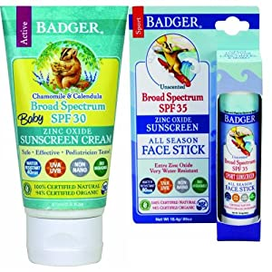 Amazon Com Badger Baby Sunscreen Spf 30 And Face Stick