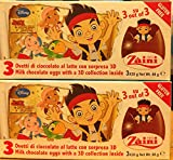 2 Boxes (6 Eggs) Disney Pixar Jake The Pirate Chocolate, Free Gift