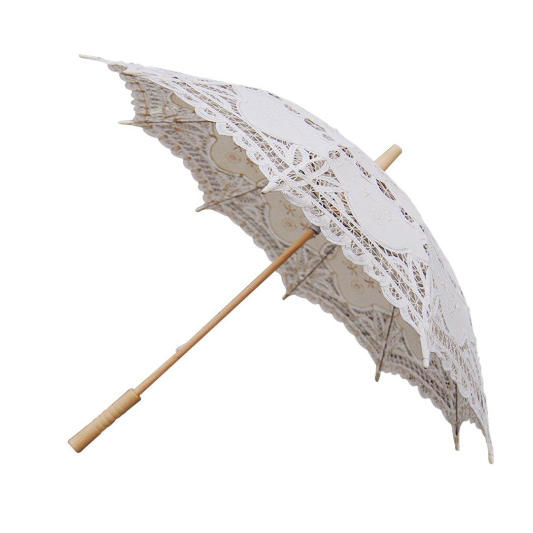 Leegoal Handmade Umbrellas for Bridal Bridesmaid Wedding Decoration, Beige 2