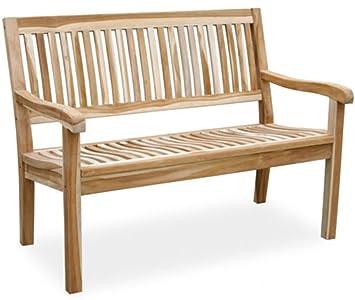 LD Banco de 2plazas teca teca Banco de jardín muebles de jardín parque banco Bench