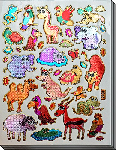 Jazzstick 200 Glitter Animals Decorative Sticker 10 sheets (VST09A02)
