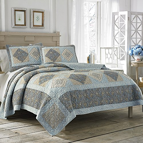 Laura Ashley Barrington King Quilt King Blue front-975705