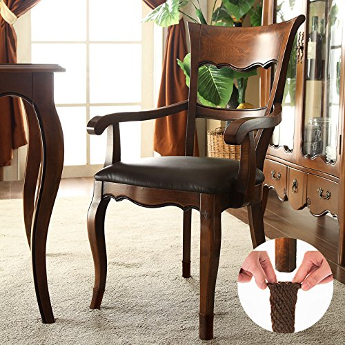 Wislife brown chair socks with non slip stripes inside Furniture wood floor protectors