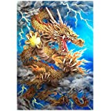 "CHAMBERART jigsaw puzzle-Paper GOLD DRAGON (28.94"" x 21.10"") Made in KOREA"