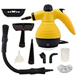 Comforday Multi-Purpose Steam Cleaner, High Pressure Chemical Free Steamer with 9-Piece Accessories, Perfect for Stain Removal, Carpet, Curtains, Car Seats,Floor,Window Cleaning(Upgrade) (Yellow) (Color: Yellow)