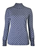 Women's Polo Neck Top Ladies Turtle Stretch Jumper Long Sleeve New Size 8 - 24