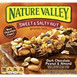 Nature Valley Sweet and Salty Dark Chocolate Almonds and Peanut, 6-Count, 1.24-Ounce Bars (Pack of 6)
