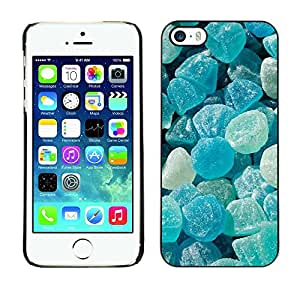 Omega Snap on Hard Back Case Cover Shell FOR Apple iPhone 5 / 5S - Crystal Meth Rocks Candy Blue Beach