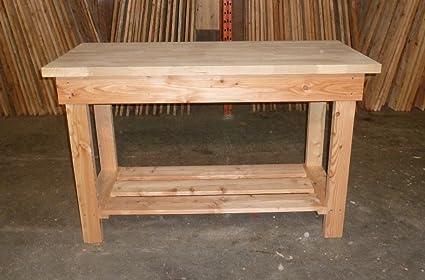 Workbench Utility Bench 1.45m long 40mm solid Oak Top
