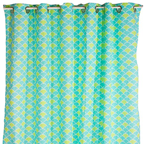 Pam Grace Creations Shower Curtain, Aqua Peacock