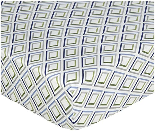 zicci bea Diamond Toddler Fitted Sheet- Multi
