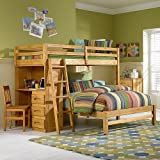 Explorer Twin Full Student Loft: Chair Included, 4 Drawer Chest