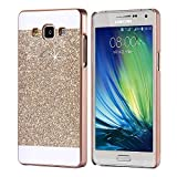 #5: Mobiclonics Hard Glitter Back Cover For Samsung Galaxy J7 2016(Gold)not for j7 old model
