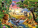 Evening at The Waterhole Jigsaw Puzzle, 300-Piece