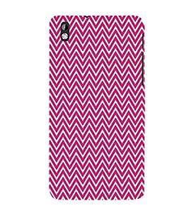 Pink Chevron Glow 3D Hard Polycarbonate Designer Back Case Cover for HTC Desire 816::HTC Desire 816 G::HTC Desire 816D::HTC Desire 816G (Octa Core)