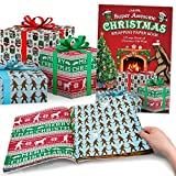 Accoutrements Super Awesome Christmas Wrapping Paper Book