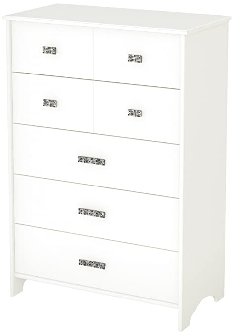 South Shore Tiara Collection 5-Drawer Chest, Pure White