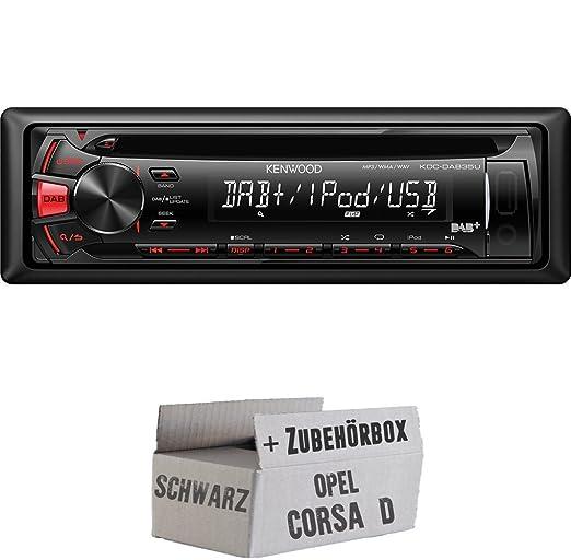OPEL CORSA D Noir-Kenwood-dab35u-Kit de montage autoradio CD/MP3/USB avec DAB -