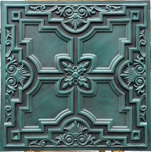 PL16en plusieurs finitions disponibles: Cyan Antique plafond Panneaux muraux décoration carrelage 3D en relief Cafe Pub Shop Art 10pieces/Lot