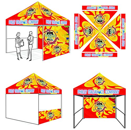 Eurmax Pro 10 X 10 Pop Up Tent Commercial Custom Printed Canopy With Wheeled Bag And Weight Bags front-831147