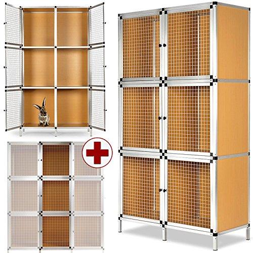 6-Boxen-Hasenstall-aus-Aluminium-und-MDF-3-Boxen-Erweiterungsmodul