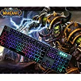 DMYCO Mechanical Feeling Backlit Wired Gaming Keyboard Multimedia Keyboard for PC Games and Office