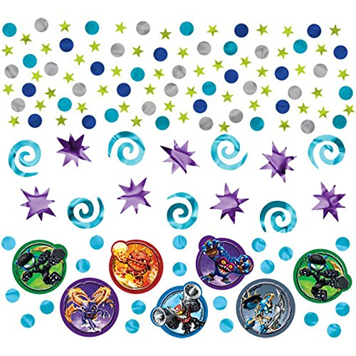 Amscan Skylanders Birthday Party Confetti Decoration Value Pack (1 Piece), 1.2 oz, Blue/Violet