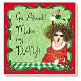 CounterArt Absorbent Coasters, Make My Day!, Set of 4