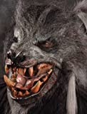Werewolf Grey Halloween Mask with Moving Mouth
