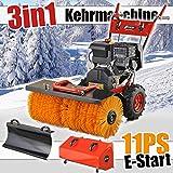 Benzin Kehrmaschine 11 PS Elektrostarter Schneefräse Schneeschieber Motorbesen