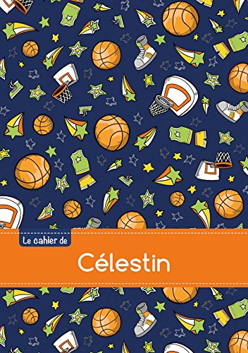 Le cahier de Célestin - Petits carreaux, 96p, A5 - Basketball (Enfant)